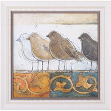 Birds Birds On Damask I