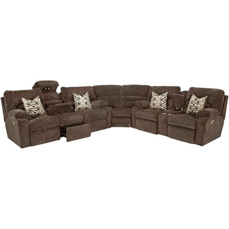 Nome 3 Piece Gray Power+ Sectional