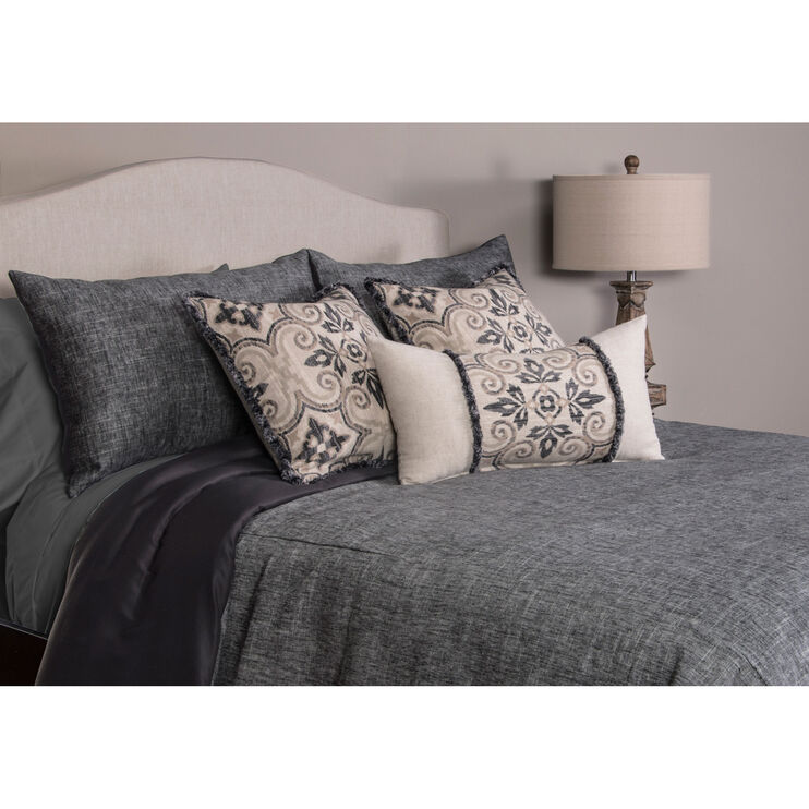 Pacific 7 Piece Black Queen Duvet Set