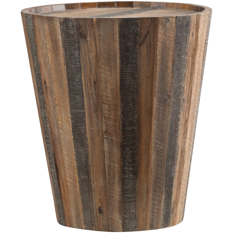 Conundrum Distressed Acacia Accent Table