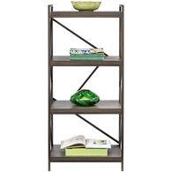 Basel 4 Shelf Bookcase