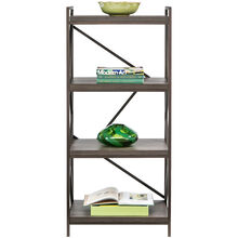 Basel Walnut 4 Shelf Bookcase