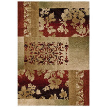 Wild Weave Ogletree Tan and Red Abstract 5 x 8 Rug