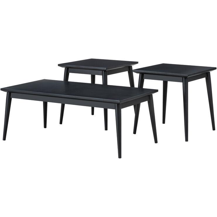 Adler Charcoal Set of 3 Tables