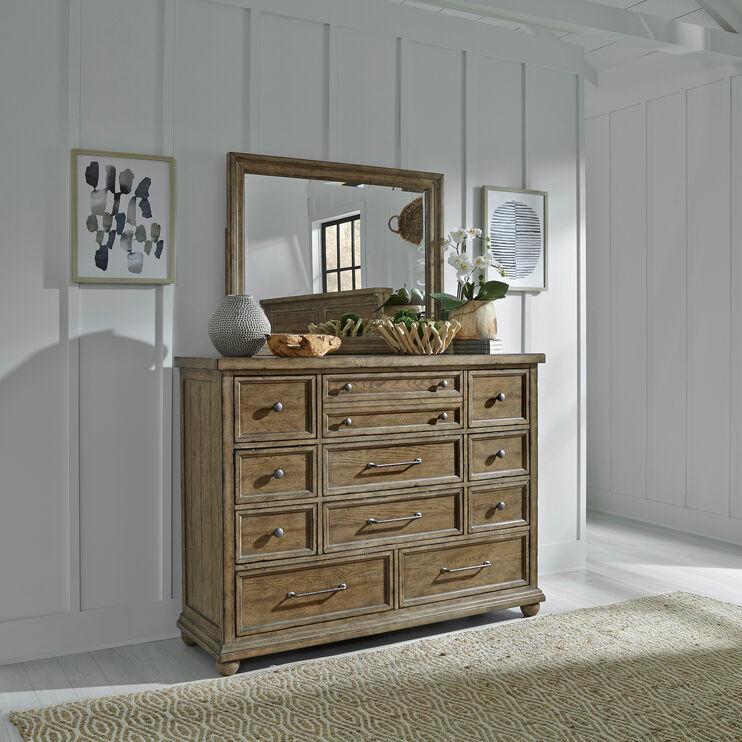 Harvest Home Brown 11 Drawer Dresser