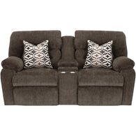 Nome Power Plus Reclining Console Loveseat
