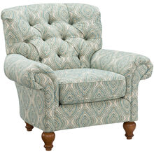 Tranquility Blue Tufted Accent Chair