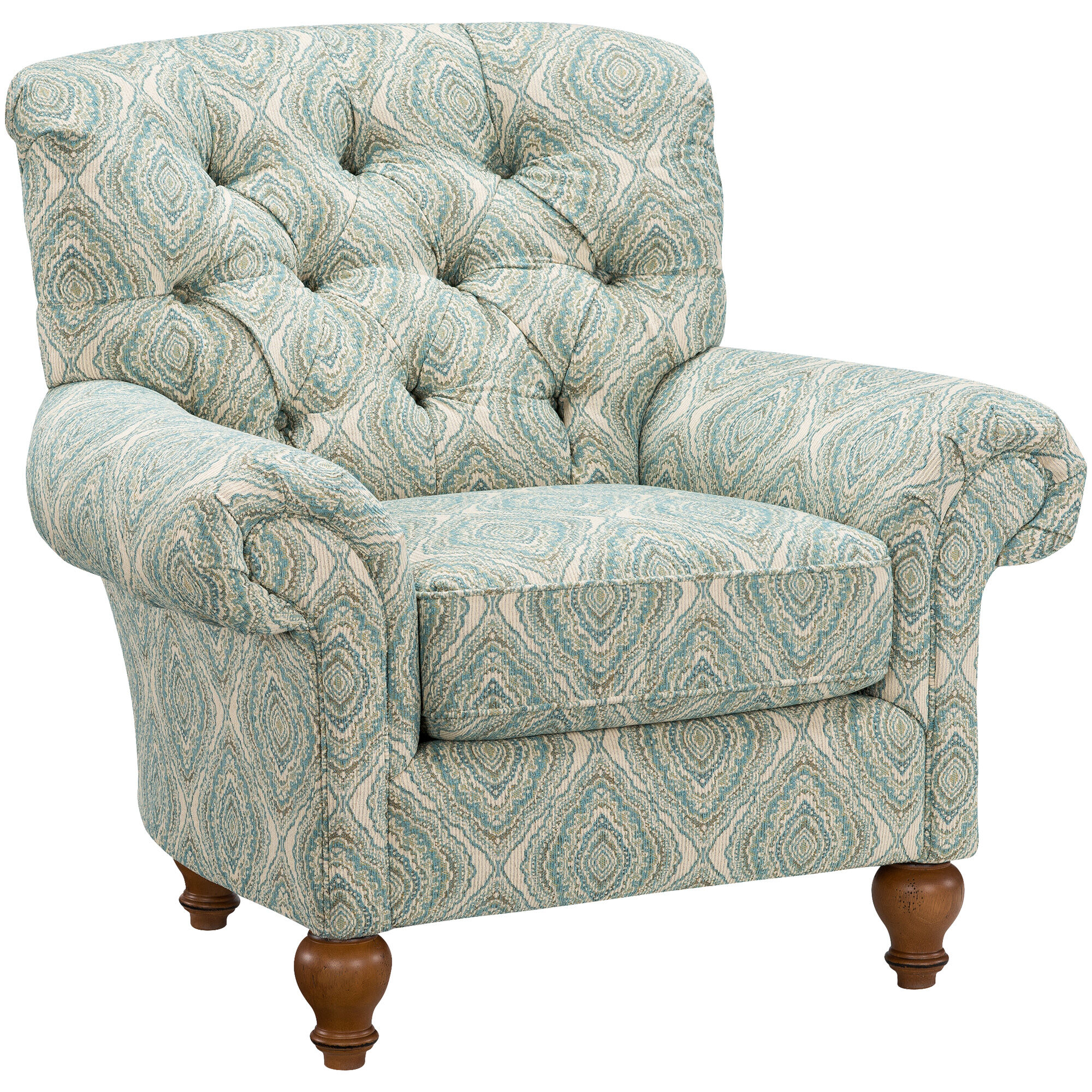 Incroyable Tranquility Blue Tufted Accent Chair; Tranquility Blue Tufted Accent Chair  ...