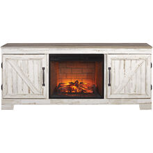 Aspen Gray 64 Inch Fireplace Console