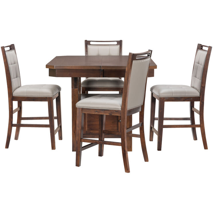Manchester 5Pc Merlot Counter Set
