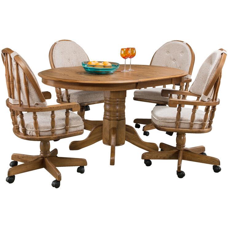 Jefferson 5 Piece Chestnut Laminate Pedestal Set