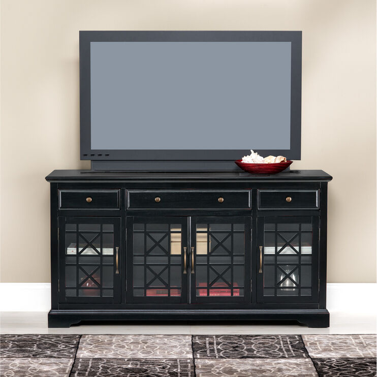"Chilton 60"" Antique Black Console"