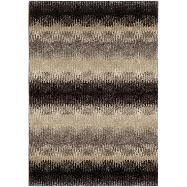 Heritage Fresco Brown Stripe 8 x 11 Rug
