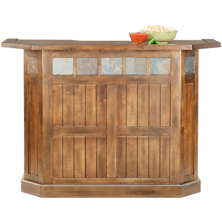 Sante Fe Rustic Oak Bar