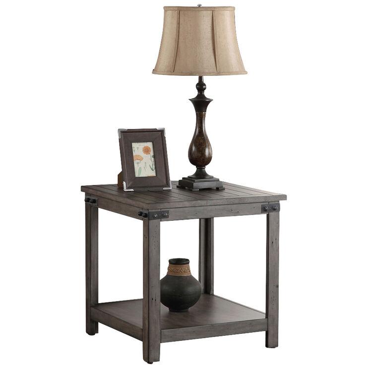 Storehouse Smoke Gray End Table