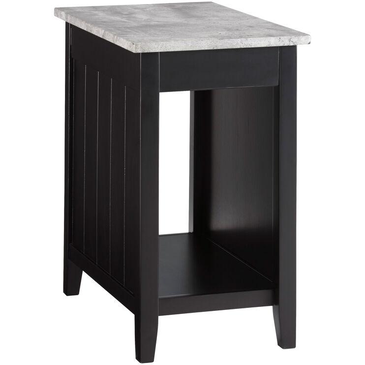 Diamenton Black Chairside Table