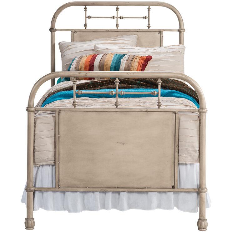 Vintage Cream Twin Bed