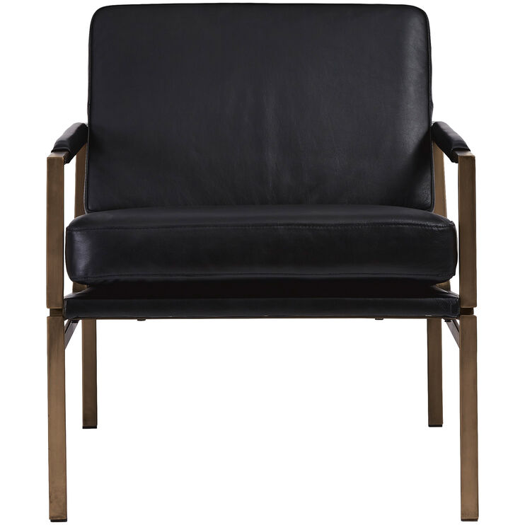 Puckman Leather Accent Chair Home Decor Slumberland
