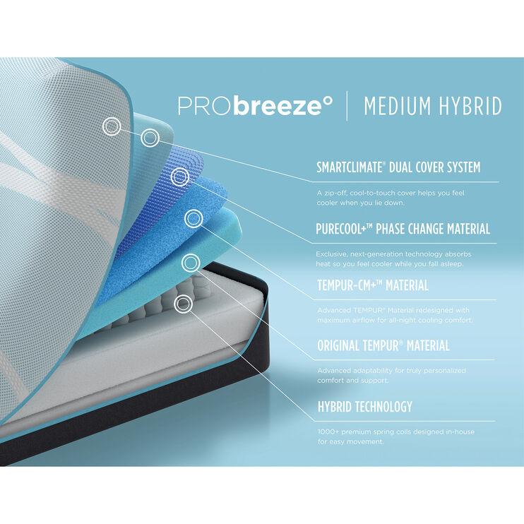 Tempur-Pedic Pro Breeze Medium Hybrid Queen Mattress