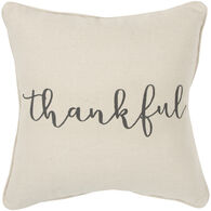 Sentiment Simply Thankful Down Pillow