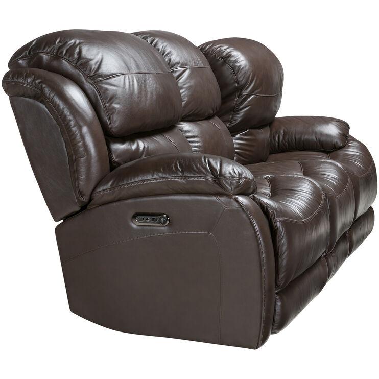 Slumberland Furniture Palmer Brown Power Reclining Sofa
