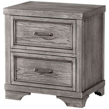 Foundry Brushed Pewter Nightstand