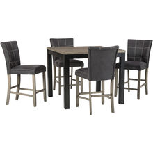 Dontally Gray 5 Piece Counter Dining Set