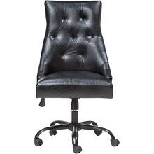 Hudson Black Tufted Desk Chair