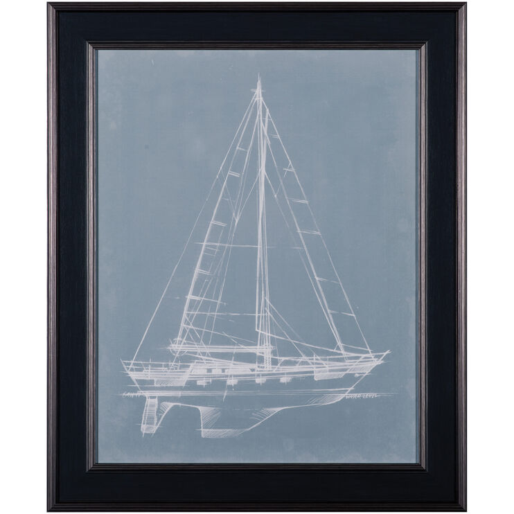 Yacht Sketches II Framed Art