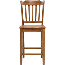 Platinum 30 Inch Oak Slat Counter Stool