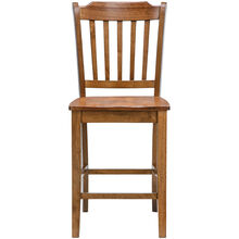 Platinum 24 Inch Oak Slat Counter Stool