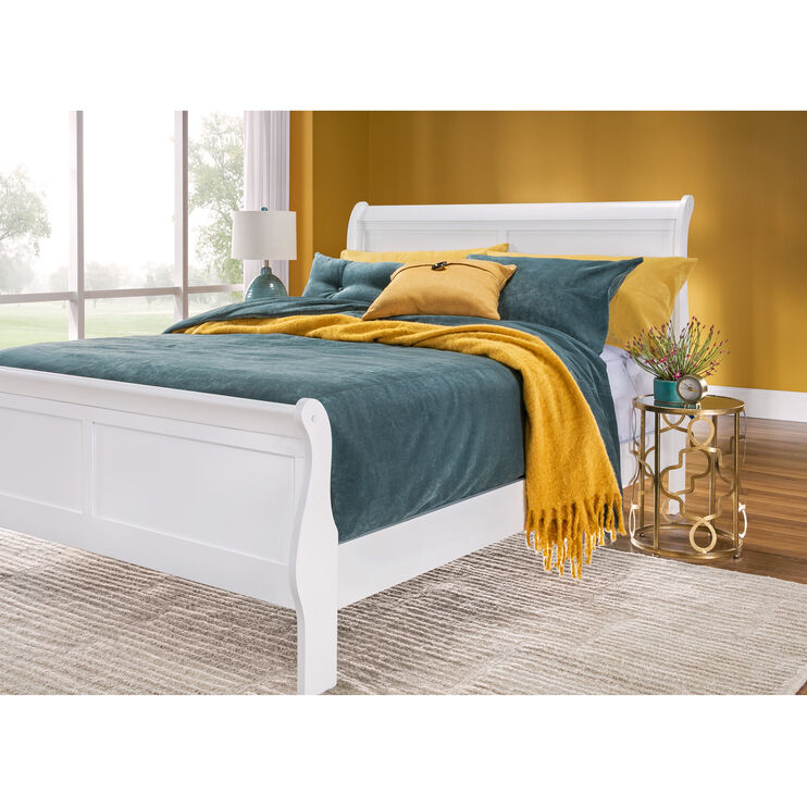 Yorkshire White King Bed
