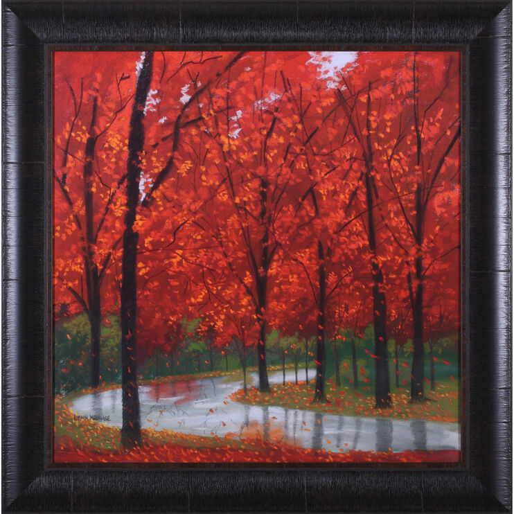 Autumn Stream Hand Embellished Art