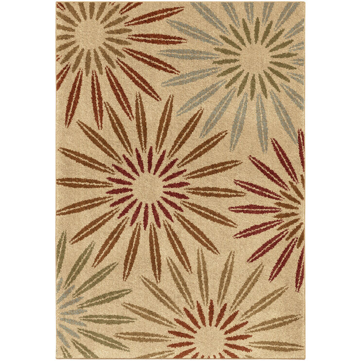 Heritage Halley Multi Bright Bursts 8 x 11 Rug