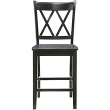Platinum Black 24 Inch X Back Counter Stool