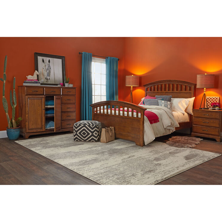 Slumberland Furniture Solana Chocolate Queen Bed