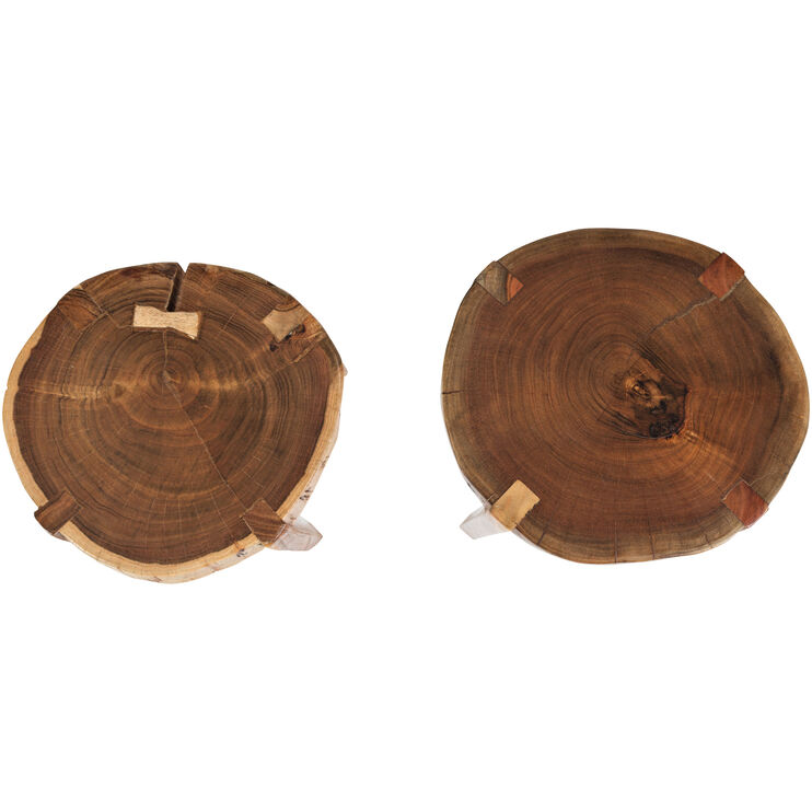 Global Archive Solid Acacia Set of Wood Tables
