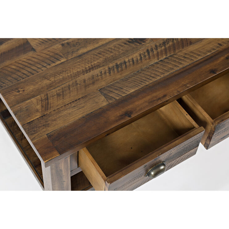 Artisans Craft Brown Cocktail Table