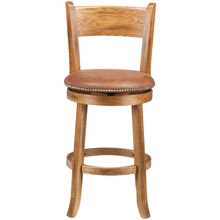 "Sante Fe Rustic Oak 24"" Swivel Stool"