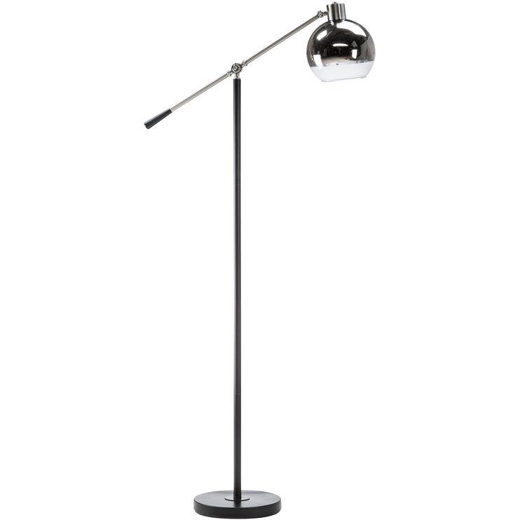 Hollaran Silver Globe Task Floor Lamp