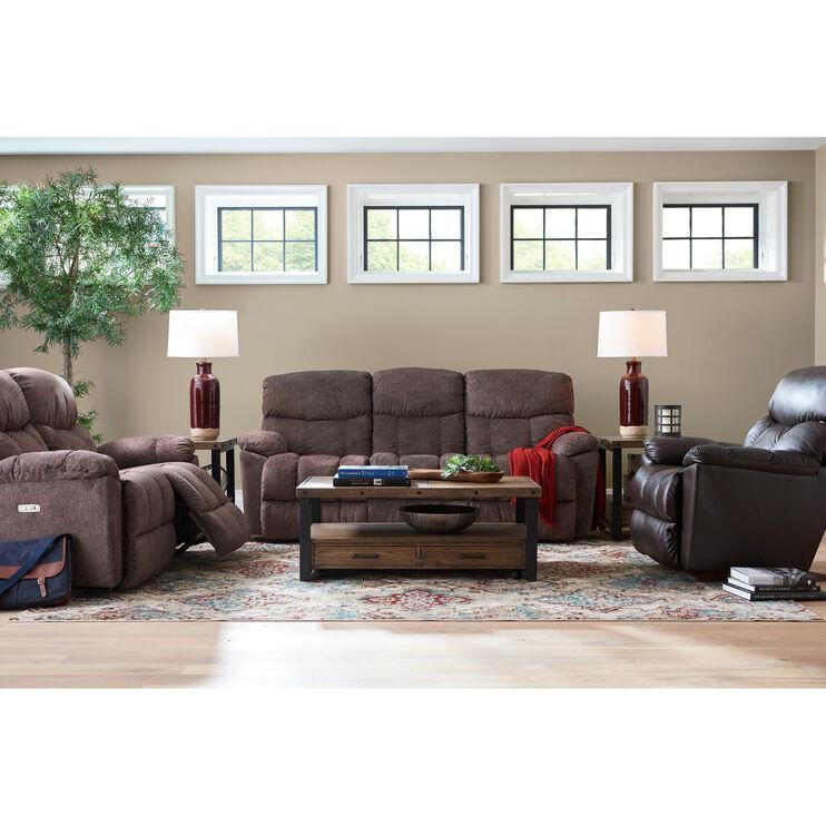 Slumberland Furniture Morrison Cappuccino Reclining Sofa
