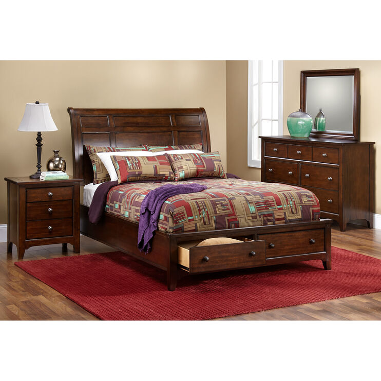 Kona Mango Queen Storage Bed