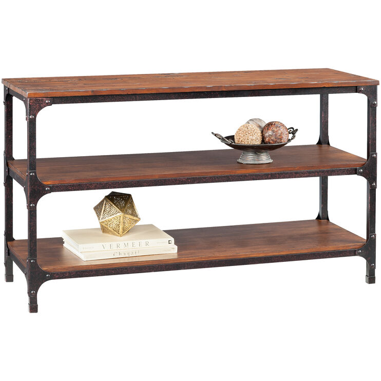 Abbott Distressed Pine Console Table