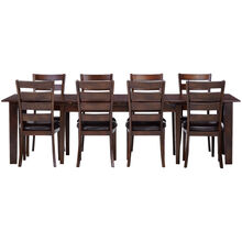 Kona 9 Piece Raisin Ladder Back Dining Set