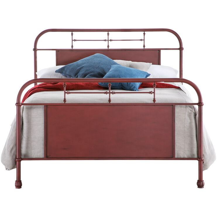 Vintage Red Queen Bed