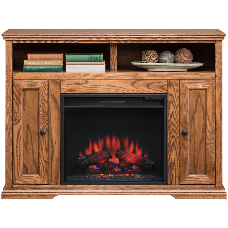 Chambers Golden Oak 48 Inch Fireplace Console