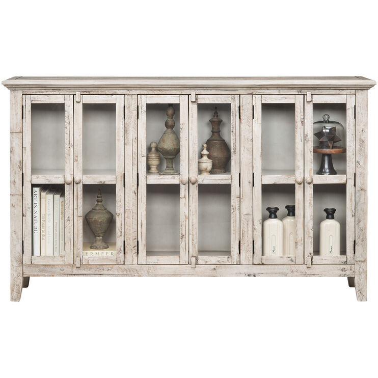 Rustic Shores Antique White 6 Door Cabinet