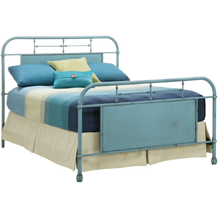 Vintage Blue King Bed