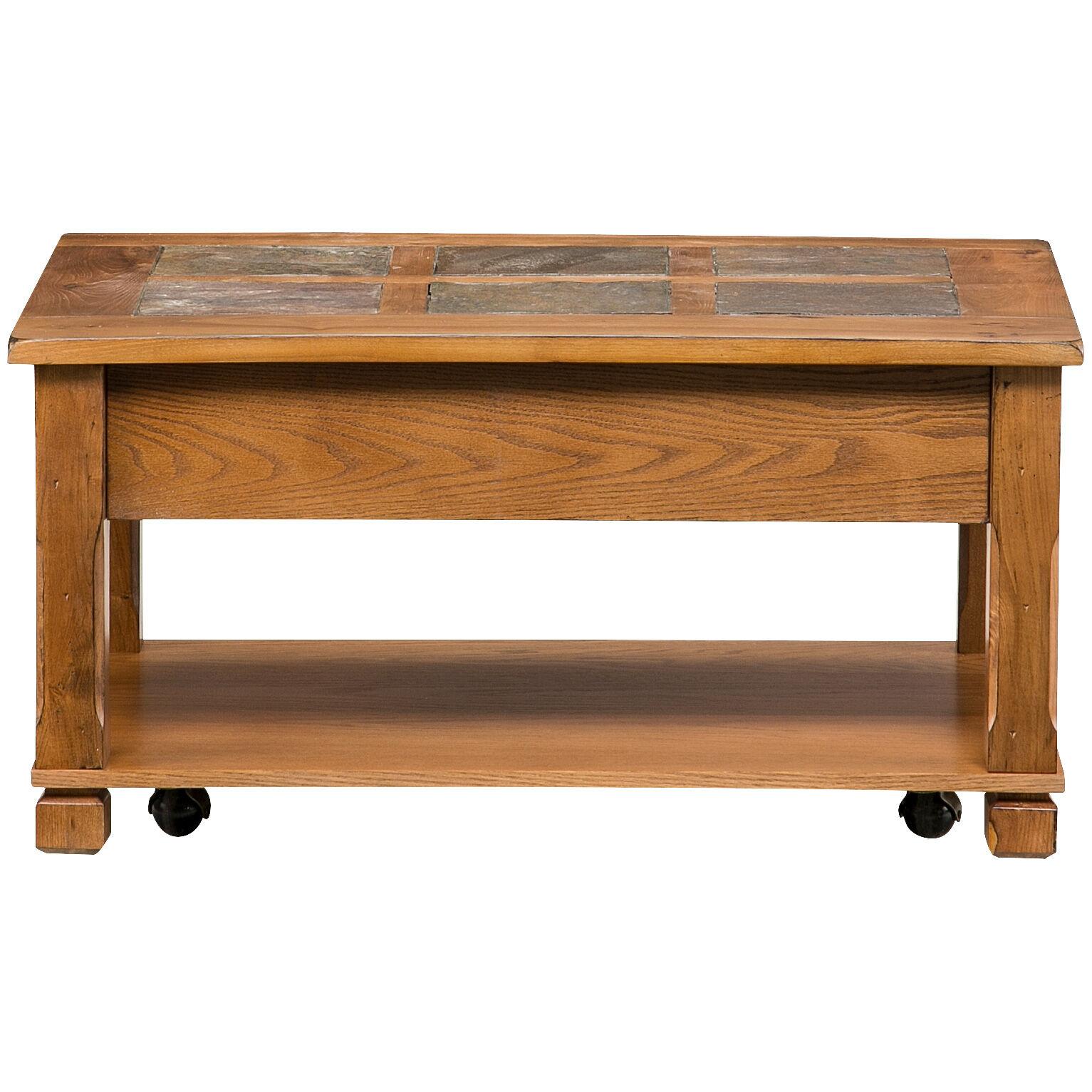 ... Rustic Ridge Oak Lift Top Coffee Table ...