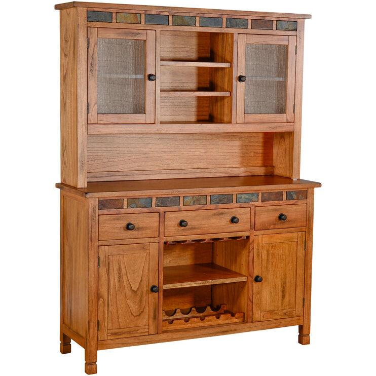 Sedona Rustic Oak 2 Piece China Buffet